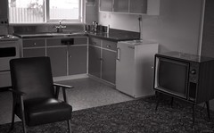 Interior of Living Area, Dunedin Motel, c1970s (Dunedin City Council Archives) Tags: dunedin motels accomodation holidays 1970s