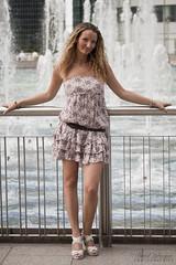 Malika (pilou.basco) Tags: modele model girl fille femme woman teen portrait face eau fontaine la defense paris france french robe jolie cute mignonne mignon talon heels canon eos 400d 2010