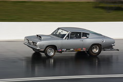 Cuda_8112 (Fast an' Bulbous) Tags: car automobile vehicle motorsport fast speed power acceleration drag strip race track santapod panning outdoor nikon d7100 gimp