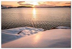 Sunset, sea and winter (Bent Kverme) Tags: winter sunset norway nature horizon ocean water