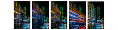 muni to the new mission theater pentaptych (pbo31) Tags: sanfrancisco california nikon d810 color night black lightstream traffic city urban march 2018 boury pbo31 rain wet missionstreet mission reflection theater neon sign cinema muni bus motionblur pentaptych stop