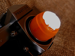 Vintage spy cam (BeMo52) Tags: camera egg eggcellent eierschale kamera lens licht light macro makro ostern praktica smileonsaturday