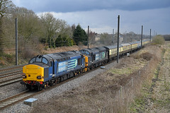 Pilmoor, north of York (DieselDude321) Tags: 37259 37605 class 37 drs direct rail services 1z67 0605 cardiff central inverness pilmoor north york pathfinder tours easter