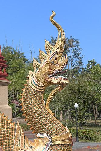 Wat Pa Neramit Mae Taeng Phra Chedi Makara and Naga (DTHCM2053) วัดป่าเนรมิตแม่แตง มกรและนาค พระเจดีย์
