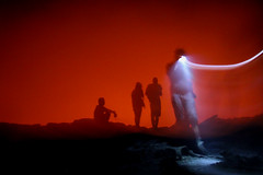 hot to trot (rick.onorato) Tags: ethiopia afar region danakil erta ale volcano flame fire red glow gateway hell caldera crater rim surreal fumes smoke light abstract
