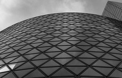 White square (tokyobogue) Tags: tokyo japan shibuya blackandwhite blackwhite monochrome nikon nikond7100 d7100 sigma sigma1750mmexdcoshsm windows curves sky triangles square