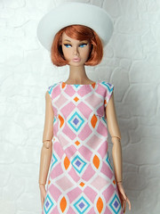 """""""Bright"""" up your life - the mosaic dress (Levitation_inc.) Tags: ooak handmade doll dolls clothes dress outfit levitation levitationfashion etsy poppy parker bright nuface fashion royalty integrity toys barbie barbiestyle colorful colors mod"""