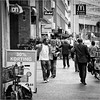 30% Discount (John Riper) Tags: johnriper street photography straatfotografie square vierkant bw black white zwartwit mono monochrome netherlands candid john riper rotterdam meent canon 24105 6d people shopping ah sign discount mcdonalds bike bicycle westewagenstraat coca cola