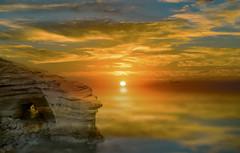 Sunset at Sunset cliffs San Diego (shishirmishra1) Tags: sun sunset naturephotography landscape landmark sandiego cliffs fantasticnature water sky evening travel blue city