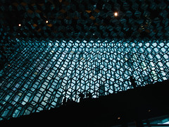 Harpa (BurlapZack) Tags: olympustoughtg5 vscofilm pack01 reykjavik iceland is reykjavikiceland harpa operahouse architecture cubes glass windows geometry lines light stairway stairs silhouette figures availablelight handheld pointandshoot compact digitalcompact advancedcompact waterproofcamera waterproofcompact toughcompact raw reflection
