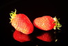 fraises 1 (jpbordais) Tags: fraises fruits reflets reflections miroir rouge red strawberries mirror
