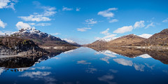 Glen Cannich Reflection (Highlandscape) Tags: munros iainmacdiarmid highlandscape mirror nature reflection outdoor rural weather rocks mullardochdam unitedkingdom blue mullardoch glen river cloud highlandscapezenfoliocom uk olympus natural calm highlands water countryside beauty ecosse highland structure colour em5markii trees glencannich scotland invernessshire hill snowline loch serene peaks sky spring landscape cannich snow mountain
