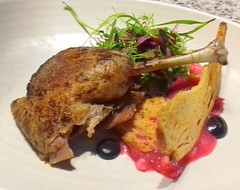 Rendered duck leg, herbs, beet piccalilli (Tony Worrall) Tags: add tag ©2018tonyworrall images photos photograff things uk england food foodie grub eat eaten taste tasty cook cooked iatethis foodporn foodpictures picturesoffood dish dishes menu plate plated made ingrediants nice flavour foodophile x yummy make tasted meal nutritional freshtaste foodstuff cuisine nourishment nutriments provisions ration refreshment store sustenance fare foodstuffs meals snacks bites chow cookery diet eatable fodder renderedduckleg herbs beetpiccalilli meat restaurant chef grafene