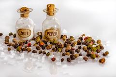 Salt and Pepper (FotoCorn) Tags: jar jars saltandpepper macro happymacromonday condiment salt hmm2018 macromondays hmm happymacromondays pepper bottles