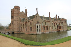 Oxburgh Hall front and side (jpotto) Tags: uk norfolk nationaltrust building architecture moat oxburghhall