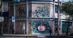 2018 - Mexico City - Roma Norte - Jardin de Niños (Ted's photos - For Me & You) Tags: 2018 cdmx cityofmexico cropped mexico mexicocity nikon nikond750 nikonfx tedmcgrath tedsphotos tedsphotosmexico vignetting vitoalessiorobles romanorte jardindeniñosvitoalessiorobles jardindeniños mural wallmural wall people peopleandpaths graffiti streetscene street curb