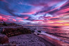 Red Sky at Night final (xxKnuckles) Tags: california lajolla sandiego usa beach bluehour coast colourful colours landscapephotography sea shore sunset water waves