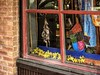 Spring Windows (clarkcg photography) Tags: spring window dressing setting additional fix decorate forsythia yellow blossoms dreamcatcher pane sill windowwednesday blue red