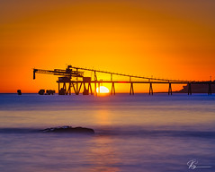Sunrise #12 of 52... No Cloud, No Waves and Locked Gates ... (e0nn) Tags: steveselbyphotography steev steveselby pentax pentaxk1 tamron tamronspaf70200mmf28dildifmacro nisifilters nisi ocean unrise sunrise 52sunrises2018 longexposure dawn water basspoint shellharbour visitshellharbour ricoh