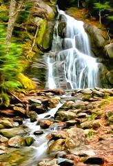 Moss Glen Falls (John Shedrick) Tags: dynamicautopainter art painting digital paintingfromphoto