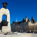 The unknown soldier's tomb and Chateau Laurier