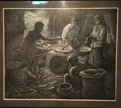 'Breakfast Preparation' by Anisuzzaman (olive witch) Tags: abeerhoque art bangladesh bd day dhaka feb18 february gallery indoors painting