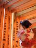 Fushimiinari Shrine Kyoto (atria2718) Tags: japan nippon kyoto women 日本 京都 着物 fushimiinari shrine torii kimono camera 伏見稲荷大社 鳥居 kanji