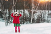 She doesn't think the snow is getting old (Elizabeth Sallee Bauer) Tags: nature active bright child childhood children cold colorful family fun girl happiness kid outdoors outside playing red snow snowman white winter