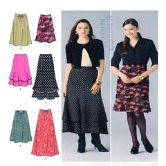 simplicity 2516 skirt pattern (FindCraftyPatterns) Tags: simplicity2516 women goreskirt aline sewingpattern plussize81012 layered trumpethem flarehemline fitflareskirt easysew