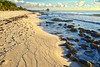 Long Winter Blues (John Andersen (JPAndersen images)) Tags: beach bird clouds easter mexico rocks sand sunday sunrise