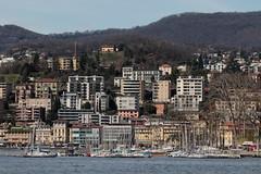 Stadt Lugano am Luganersee - Lago di Lugano ( auch Ceresio ) im Sottoceneri im Kanton Tessin - Ticino der Schweiz (chrchr_75) Tags: christoph hurni chriguhurni chriguhurnibluemailch chrchr april 2018 chrchr75 schweiz suisse switzerland svizzera suissa swiss hurni180402