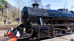 45212 Winchfield 05 April 2016 (15) (BaggieWeave) Tags: winchfield hampshire southwestmainline lswr black5 blackfive 45212 460 cathedralsexpress steam steamengine steamlocomotive steamtrain