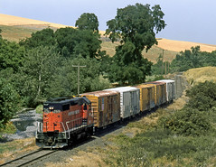 Bade OR Wednesday July 14th 2004 1135PDT (Hoopy2342) Tags: train rail railroad railway oregon ore miltonfreewater prcc palouserivercouleecity drycreek