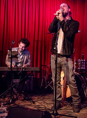 Coffee Shop Arena Rock 04/07/2018 #10 (jus10h) Tags: coffeeshoparenarock curtispeoples hotelcafe losangeles hollywood california live music concert gig event residency show performance showcase coffeeshop arenarock 80s 90s covers songs singers nikon d610 lowlight photography 2018 april justinhiguchi