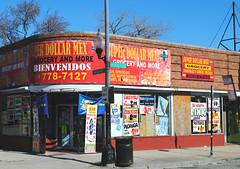 Super Dollar Mex - Gage Park, Chicago (Cragin Spring) Tags: store grocerystore grocery building corner midwest illinois il superdollarmex gagepark southside chicagosouthside neighborhoodstore city chicago chicagoillinois chicagoil urban unitedstates usa unitedstatesofamerica
