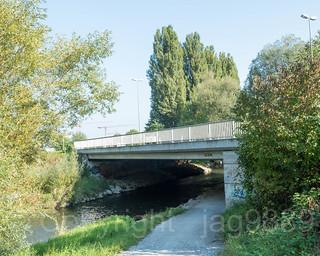 GLA220 Ueberlandstrasse Road Bridge over the Glatt River, Duebendorf, Canton of Zurich, Switzerland