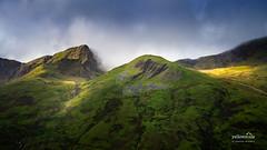 Snowdonia (nybblr) Tags: wales uk snowdonia nationalpark mountain peak cloudy foggy caernarfon mountainpeak ridge cliff alpenglow
