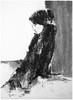 P1018047 (Gasheh) Tags: art painting drawing sketch portrait woman figure line pen charcoal gasheh 2018