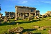 Espigueiros do Lindoso (vmribeiro.net) Tags: castelo geo:lat=4186606936 geo:lon=820028543 geotagged lindoso portugal prt vianadocastelo viana do espigueiros eira geres sony a350 grass ruins sky animal architecture