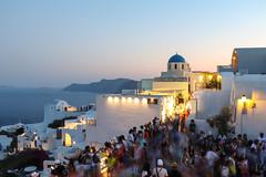 Santorini's Summer Crowds (idris.photography) Tags: santorini greece summer people architecture sea ocean water rocks travel canon 800d