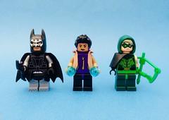 DC Tech (Jek-Verse) (Jeklarr) Tags: minifigs lego justiceleague greenarrow raquelervin rocket batman