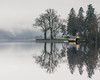 Relocate (raymond_carruthers) Tags: trees mist fog lochs lochard trossachs lomondtrossachsnationalpark water reflections yellow moody boathouse scottish lomondtrossachs scotland