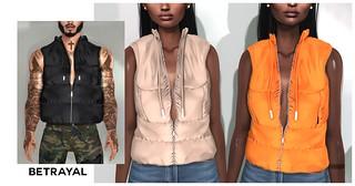 Unisex Puffer Vest @ SHINY SHABBY