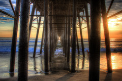 We Aren't Promised Tomorrow (KC Mike Day) Tags: ocean pier california socal sunsets water pacific wood infinity beyond sand beach clouds skies blue hdr seascape waves