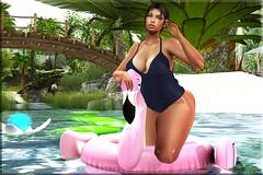 Fashion Advisory #223 Embrace Your Inner Flamigo (Fashion Advisory) Tags: treschic dlux tableauvivant focusposes flamigo beach secondlife virtual 3d avatars