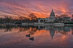 US Capitol Dawn 042218 (D. Scott McLeod) Tags: uscapitol dawn longexposure draggingclouds colorfulsky washingtondc capitoldome dc reflections dscottmcleod scottmcleod