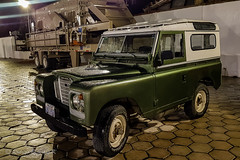 Resting (rod_b_k) Tags: ifttt 500px defender car land rover 4x4 classic series iii swb station wagon parking standing green drops rain