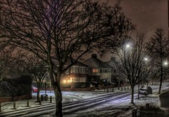 Brrr...happy Saturday!☃ (LeanneHall3 :-)) Tags: snow snowing beastfromtheeast streetlamps street trees branches night nightshot nightphotography cars houses buildings landscape longexposure hull kingstonuponhull canon 1300d