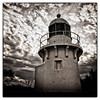Fingal Head Lighthouse (Tony Steinberg Photography) Tags: arsteinberg architecture australia building clouds coastal fineart fingalhead fingalheadlighthouse grunge landscape lighthouse location manmade monochrome nsw photograph photographicart sepia skyscape structure texture