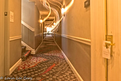 Hotel Hall (lorinleecary) Tags: doors sanfrancisco carpet hall hotelhall lights motion window